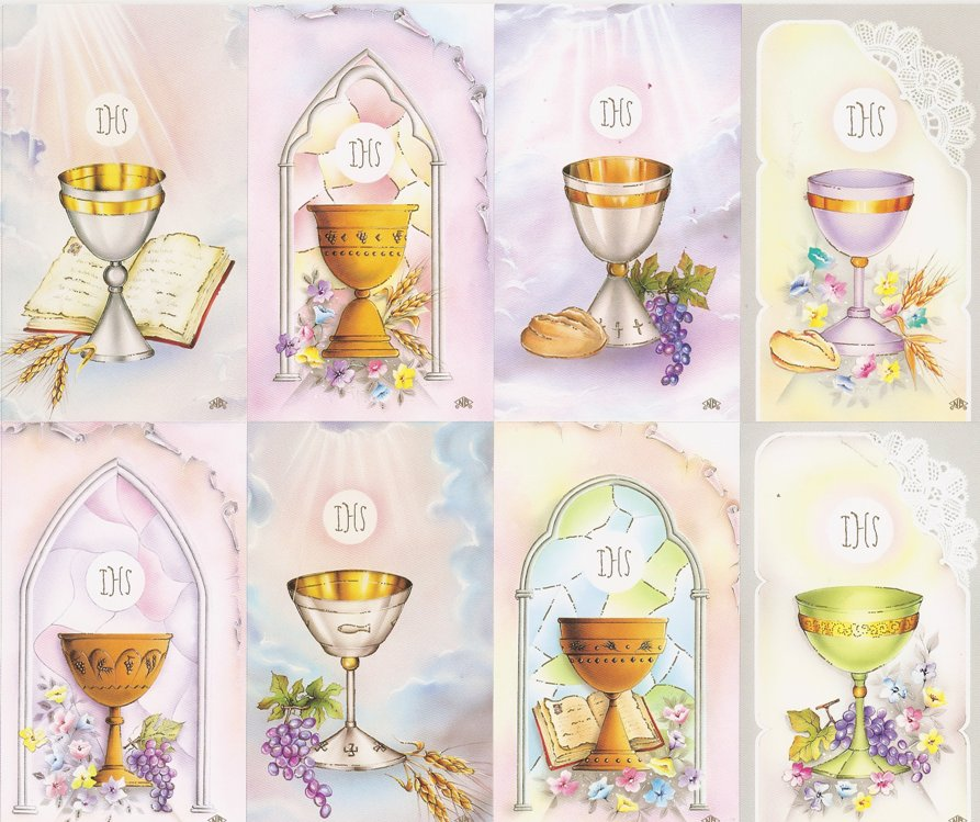 First Communion Print Your Own Prayer Cards, Holy Cards, Remembrance Cards, Invitations